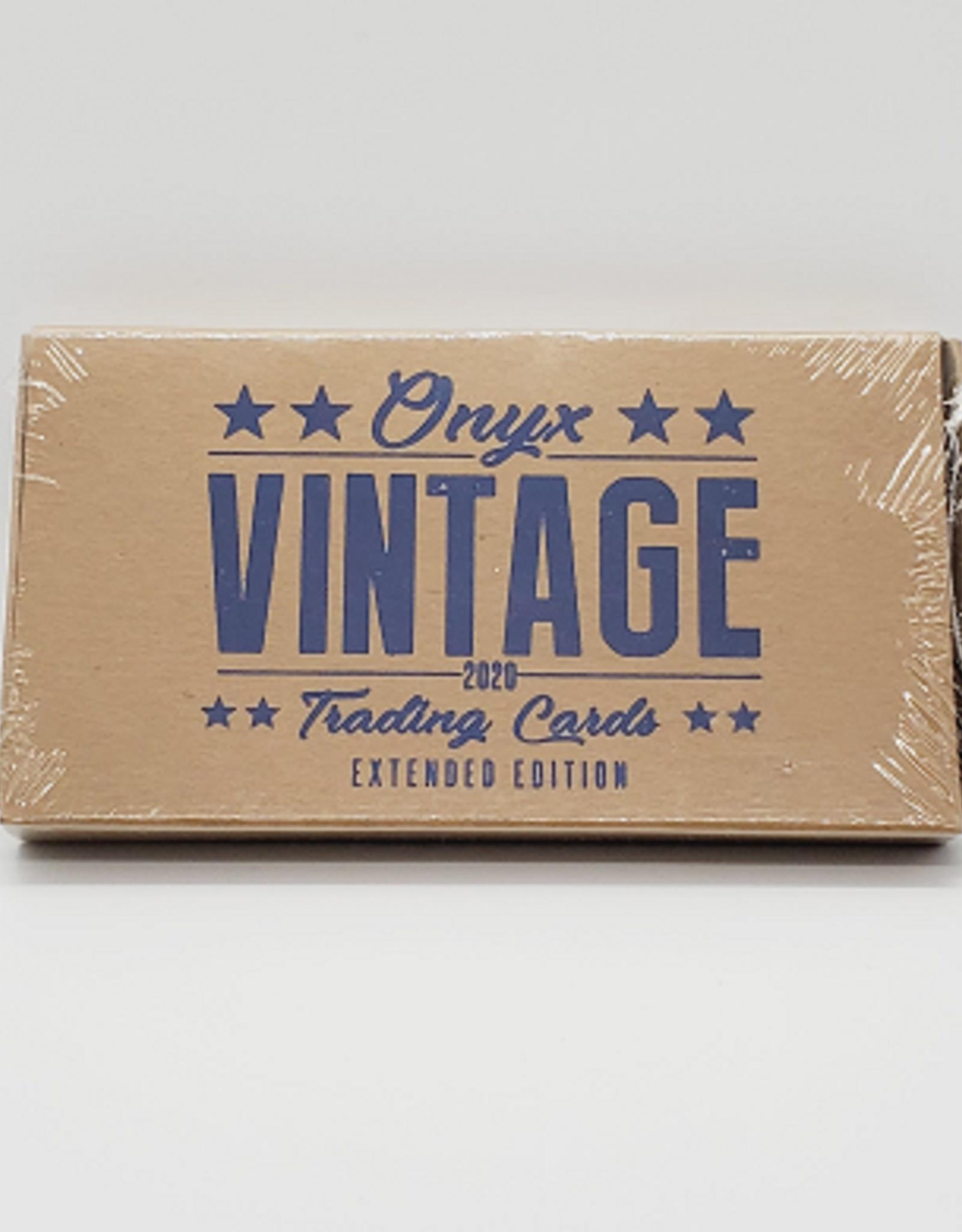 Onyx Authenticated 2020 Onyx Vintage Extended Baseball Hobby Box