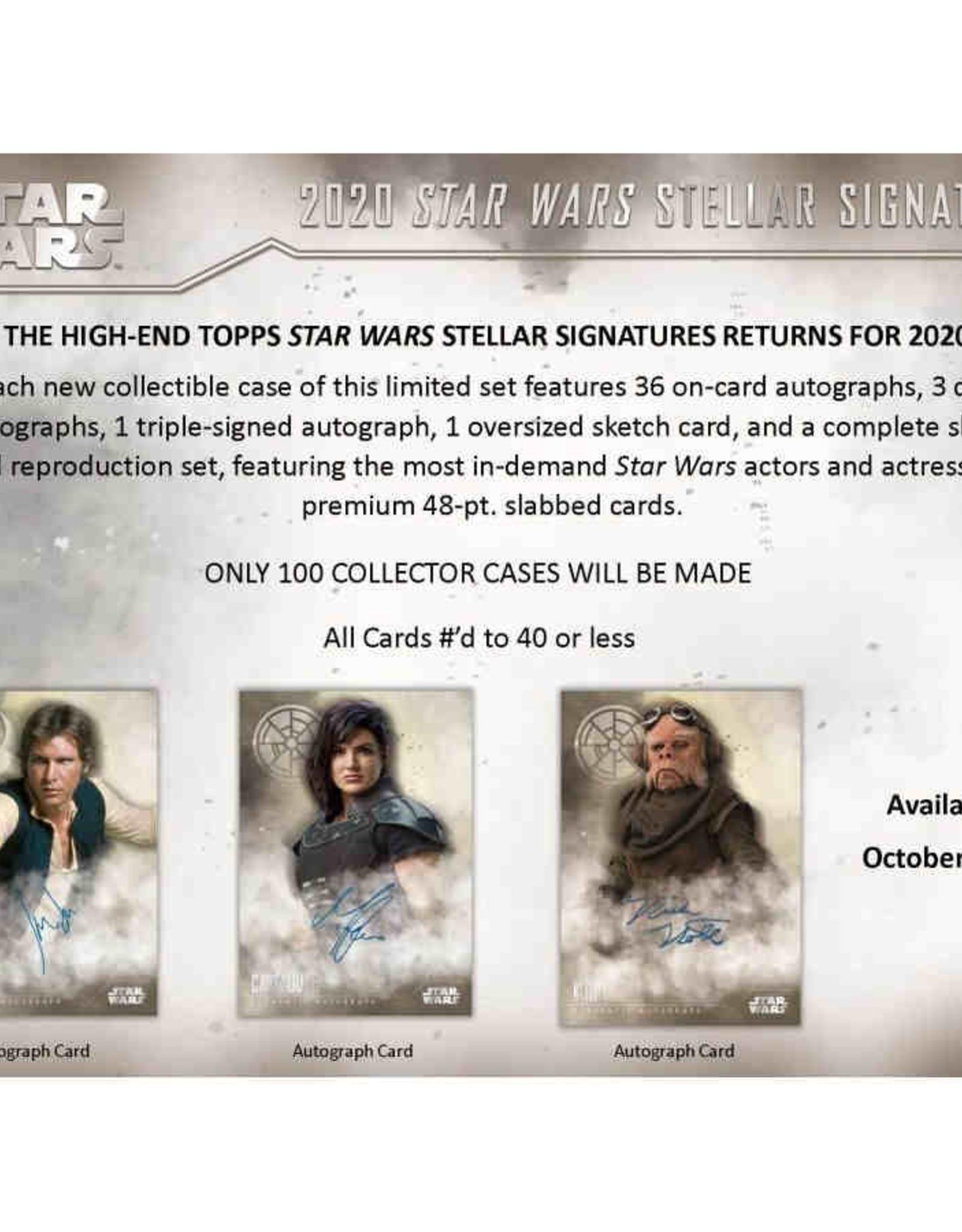 Topps 2020 Topps Star Wars Stellar Signatures Hobby Box