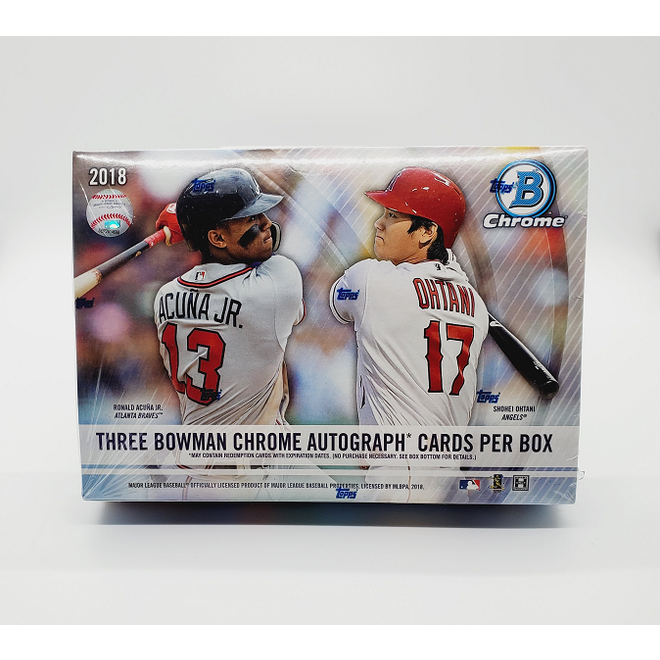 2018 Bowman Chrome Baseball Hobby HTA Jumbo Box