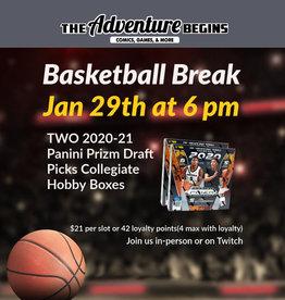 Panini America Basketball Break 2020-21 Prizm Draft Picks Collegiate  - 1 Random Team Slot