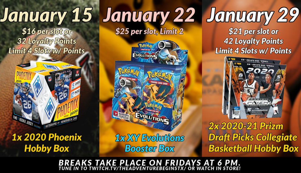 Sports Cards and Stuff | January breaks are coming your way!