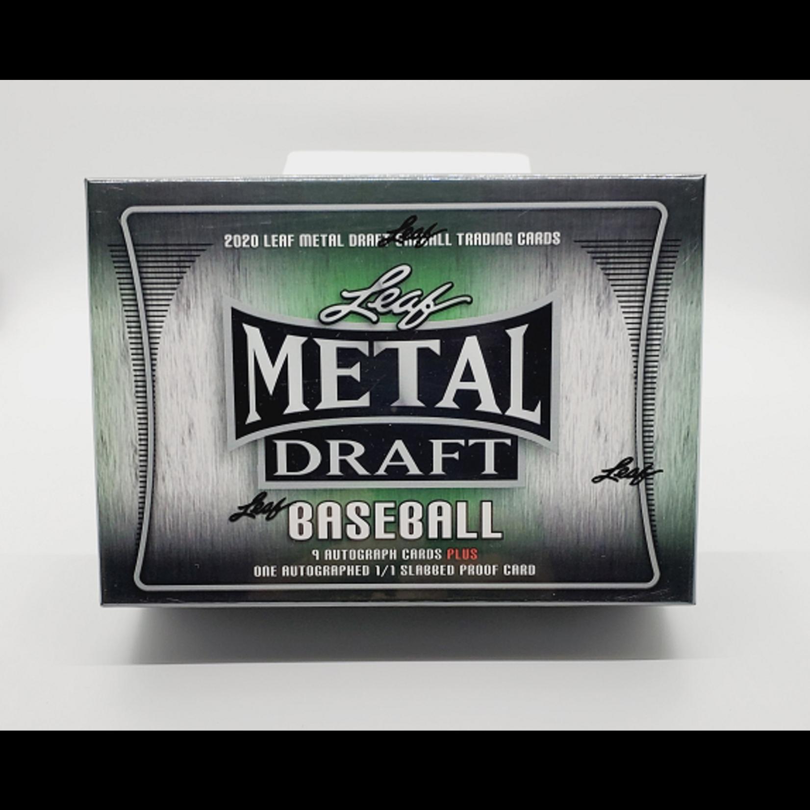 Leaf Trading Cards 2020 Leaf Metal Draft Baseball Jumbo Box