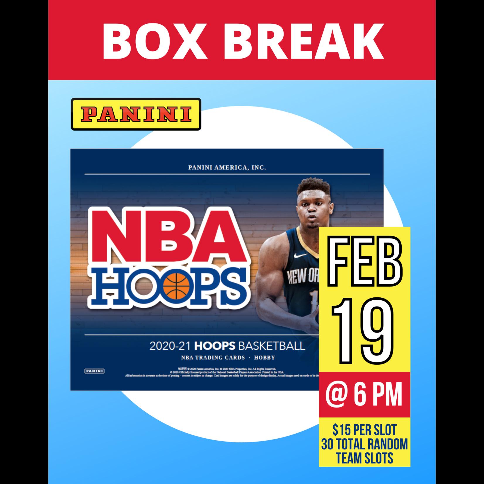 Panini America Basketball Break 2020-21 Hoops Basketball - 1 Random Team Slot