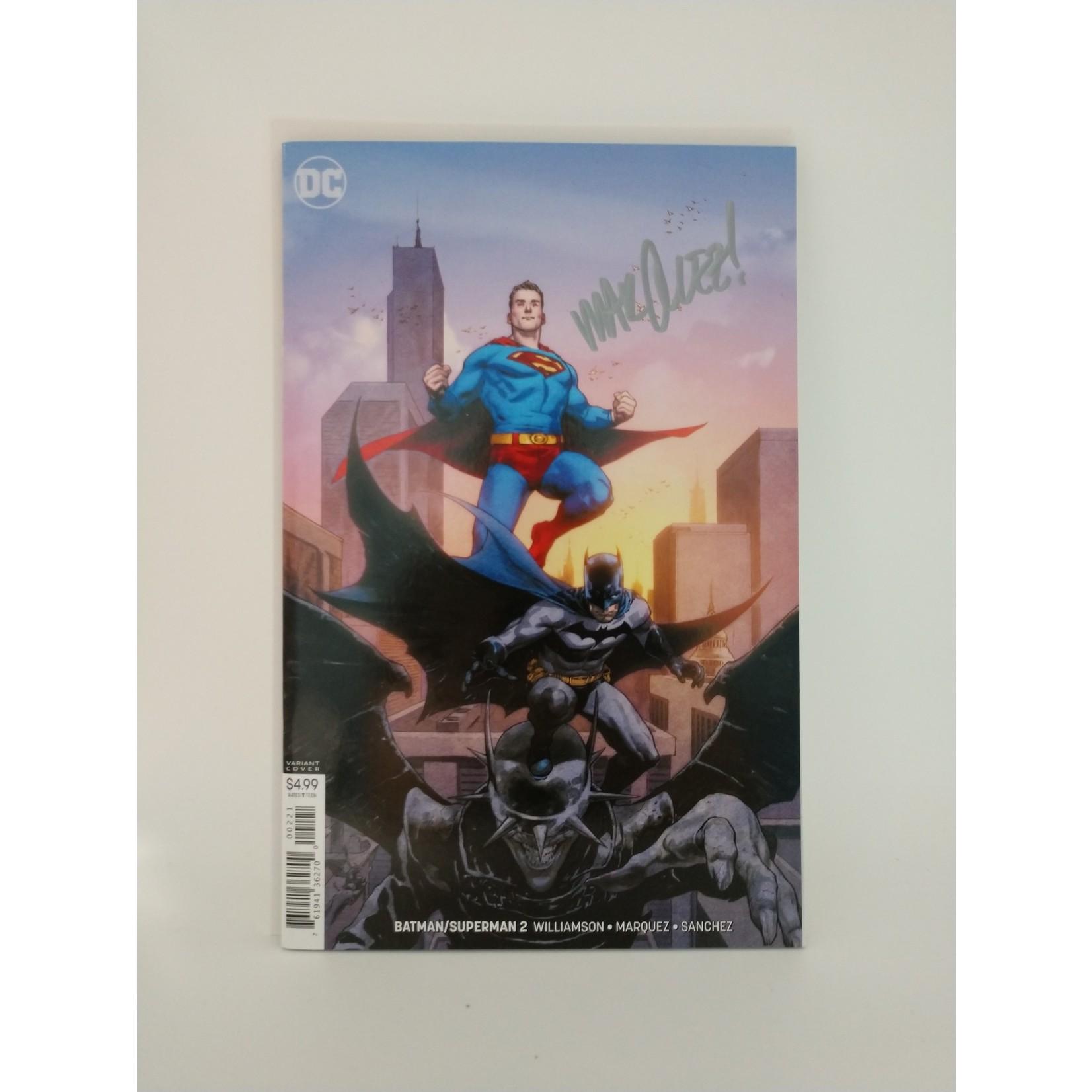 DC COMICS Batman vs Superman #2, Marquez signed, variant cover