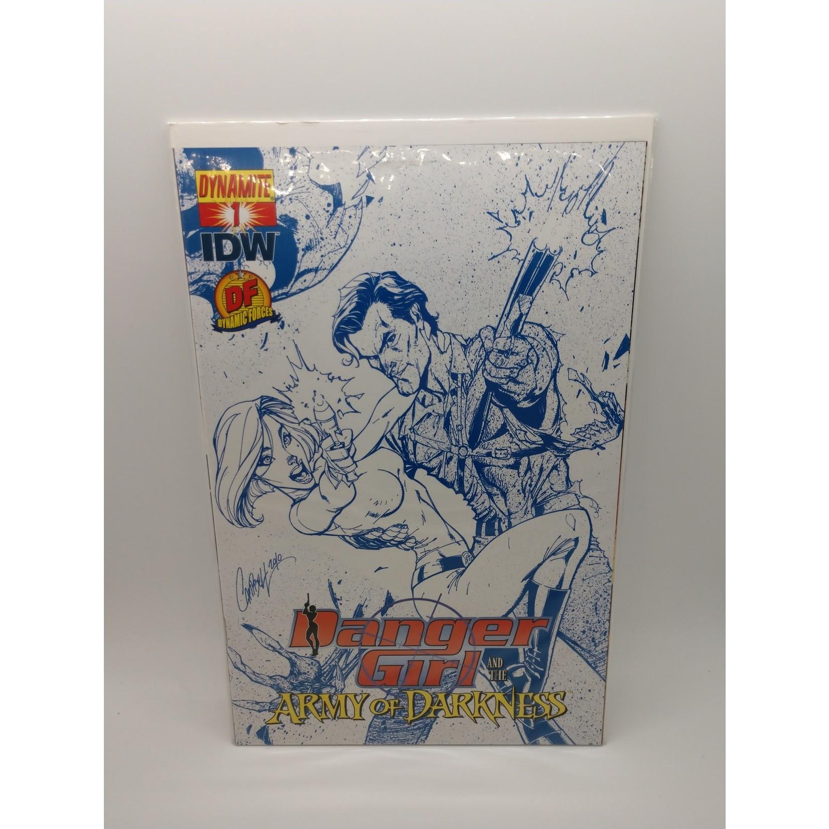 Danger Girl #1, DF Blue Sketch Variant, 650 print run