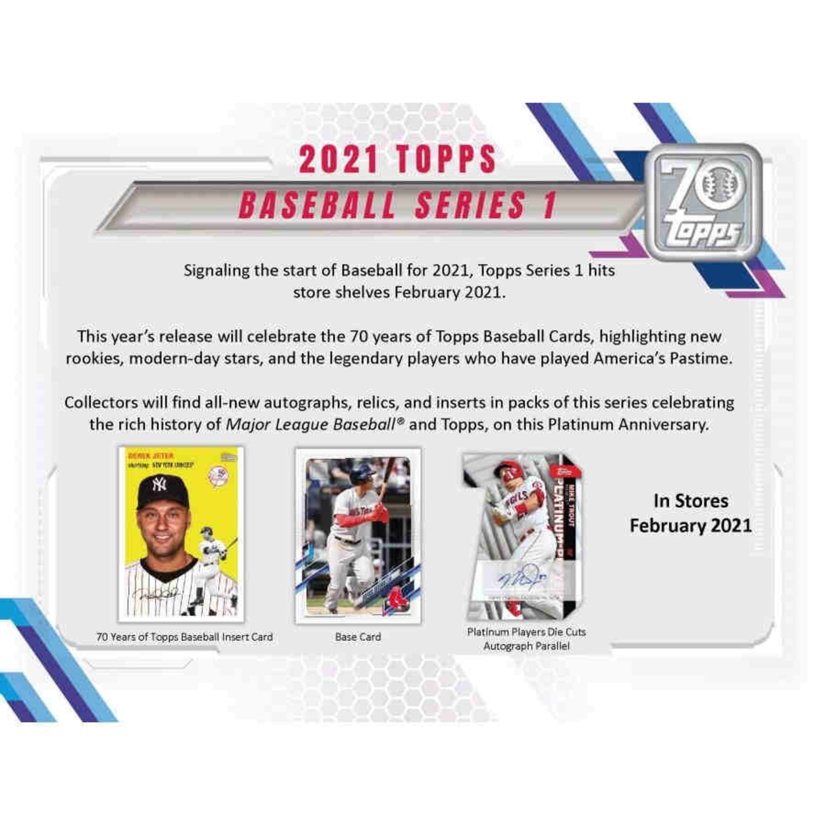 Topps 2021 Topps Series 1 Baseball Jumbo Box