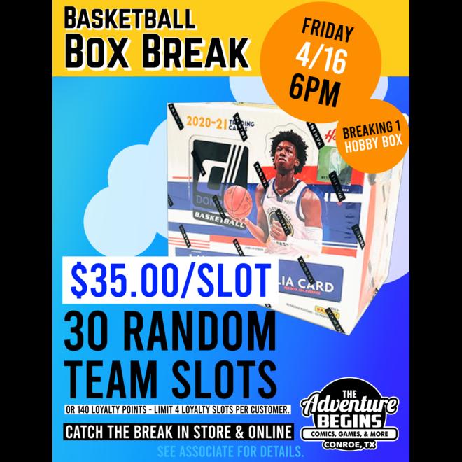 Basketball Break: 2020-21 Donruss Basketball Hobby - Random Team Slot
