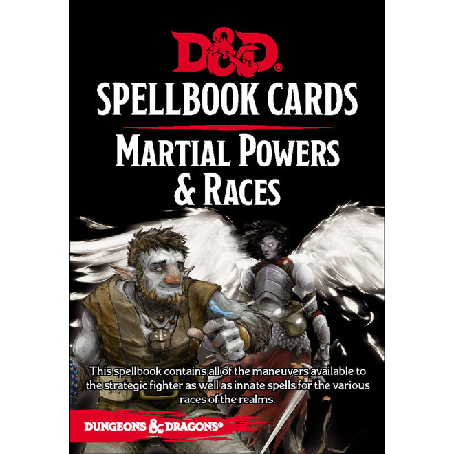 Dungeons & Dragons: 5th Edition Spell Cards - Martial Powers & Races Deck