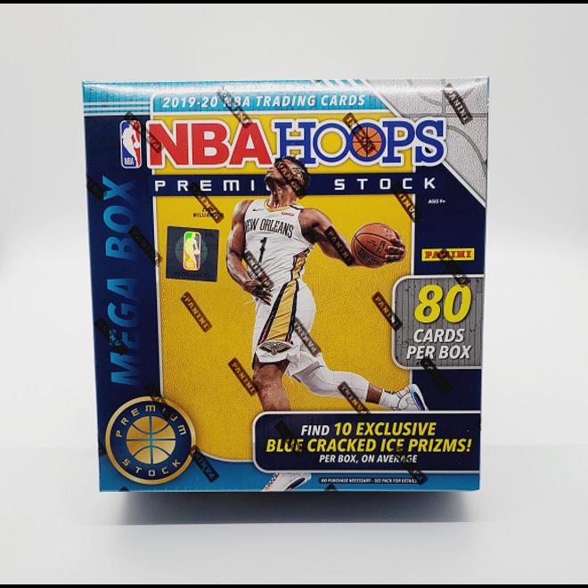 2019-20 Panini Hoops Premium Stock Basketball Mega Box (Blue 80 cards)