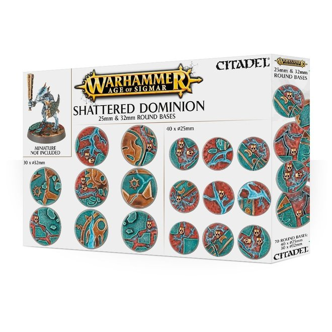 Warhammer: Age of Sigmar: Shattered Dominion: 25 & 32mm Round Bases