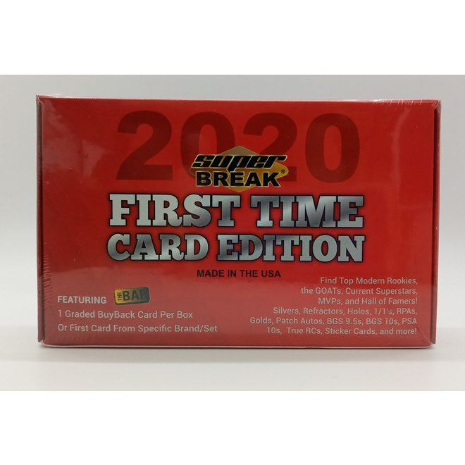 2020 Super Break First Time Card Edition Hobby Box