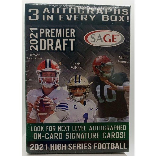 2021 Sage Hit Football Premier Draft High Series Blaster