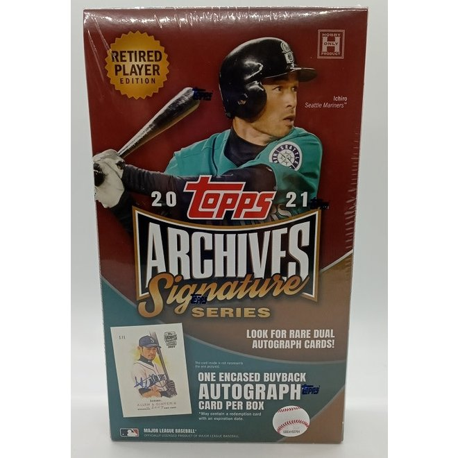 2021 Topps Archives Signature Series Baseball Retired Edition Hobby Box