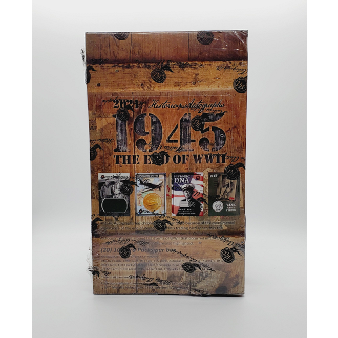 2021 Historic Autographs 1945 End of WWII Hobby Box