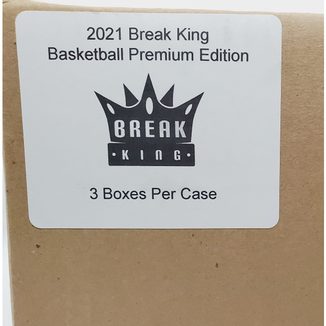 2021 Break King Basketball Premium Edition Hobby Sealed Case of 3