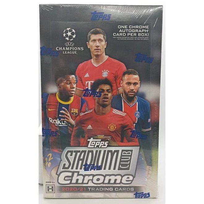 2021 Topps Stadium Club Chrome UEFA Champions League Soccer Hobby Box