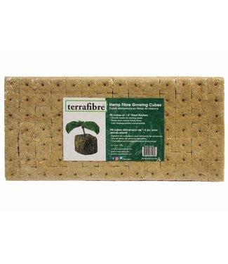"Terrafibre Hemp Growing Cubes, 1.5"", 98 Cubes"