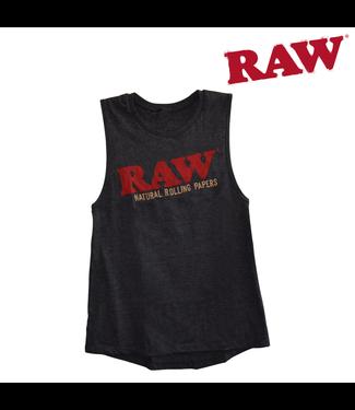 RAW RAW Ladies Dark Grey Heather Tank Top