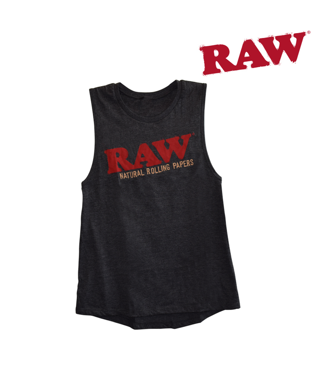 RAW RAW Ladies Dark Grey Heather Tank Top