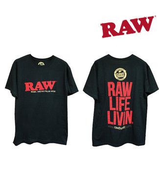 RAW RAW Men's Life Livin' Black T-shirt