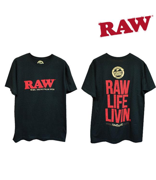 RAW RAW Life Livin' Men's Black T-shirt