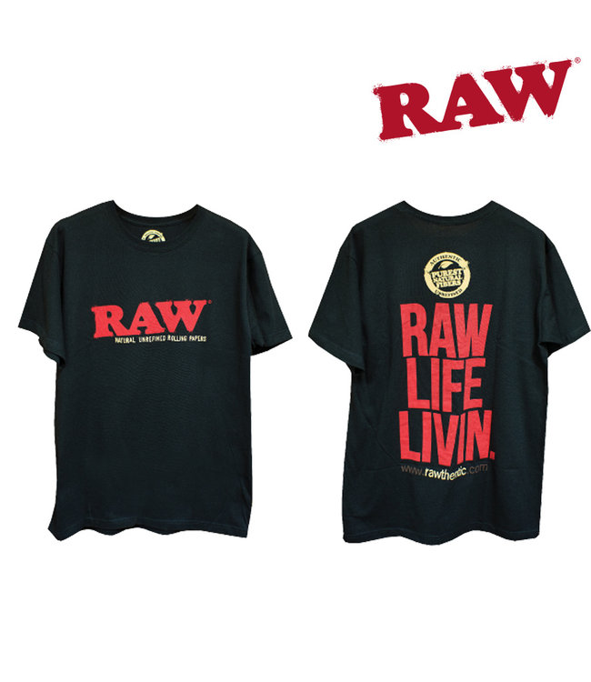 RAW RAW Men's Life Livin' Black T-shirt