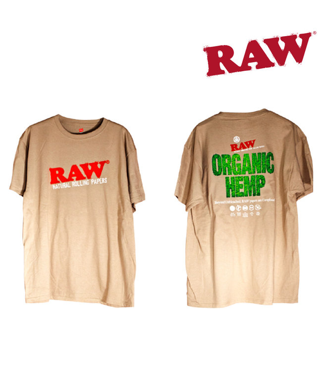 RAW RAW Organic Men's Tan T-shirt S