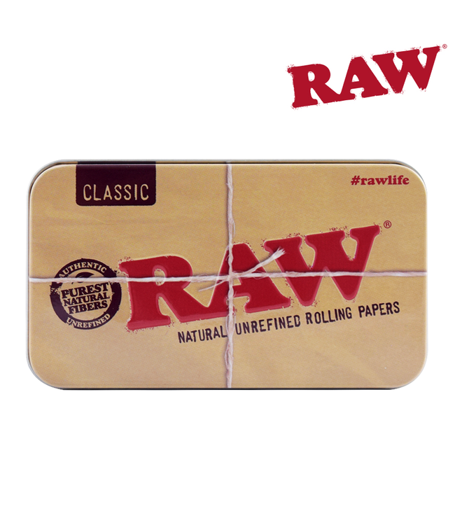 "RAW RAW Metal Tin Case 4.5"" x 2.5"""