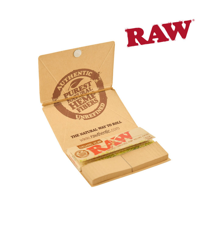 RAW RAW Organic Artesano Hemp Papers, 1 1/4 w/ Tips & Tray