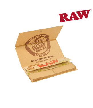 RAW RAW Organic Artesano Hemp Papers, KS w/ Tips & Tray