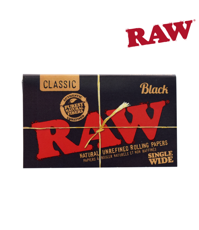 RAW RAW Black Natural Papers Single Wide Double Window 100-pack