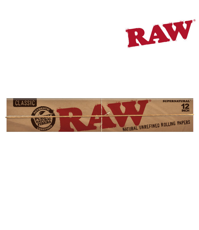 "RAW RAW Classic 12"" Supernatural Hemp Papers, 20-pack"