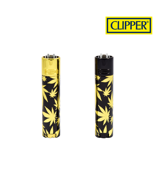 Clipper Clipper Leaves Gold Metal Lighter