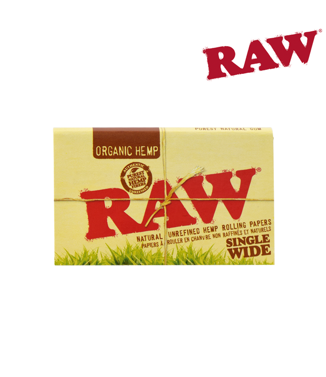 RAW RAW Organic Hemp Single Wide Papers