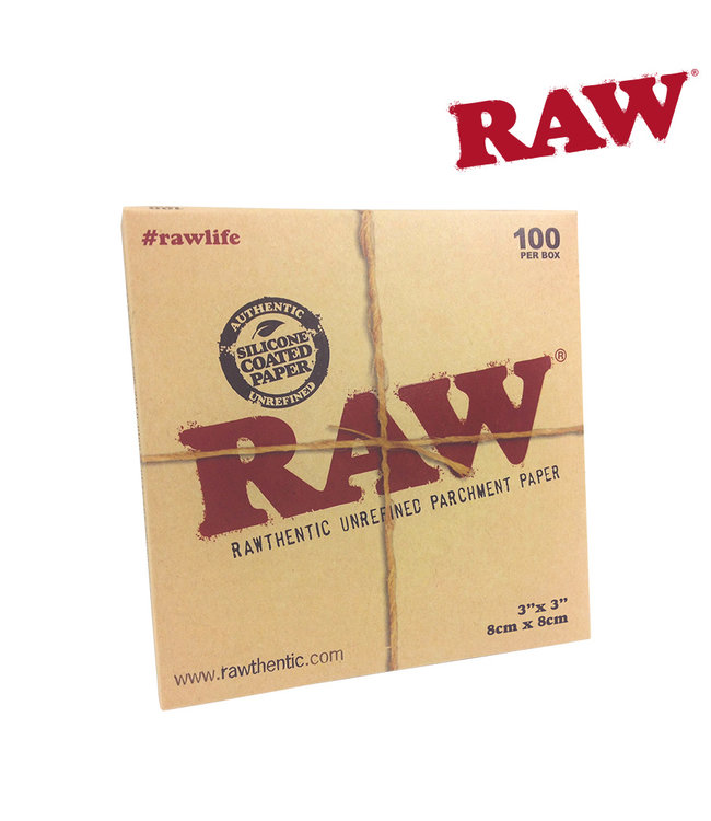 "RAW RAW Parchment Squares - 3"" x 3"", 100-pack"