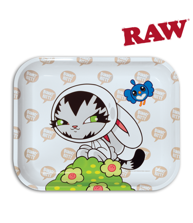 RAW RAW Persue Bunny Kitty Rolling Tray Large