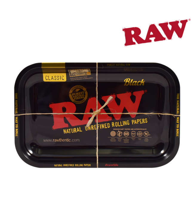 RAW RAW Black Rolling Tray Small