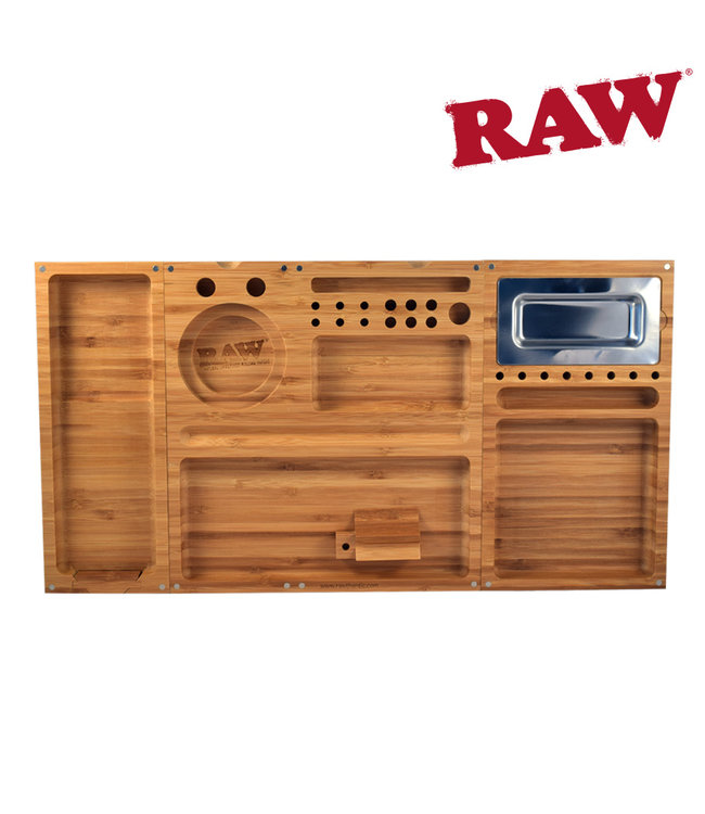 RAW RAW Triple Flip Bamboo Rolling Tray