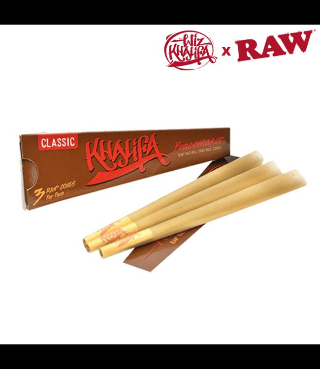 RAW RAW x Khalifa Peacemaker Hemp Cones, 140mm (3-pack)