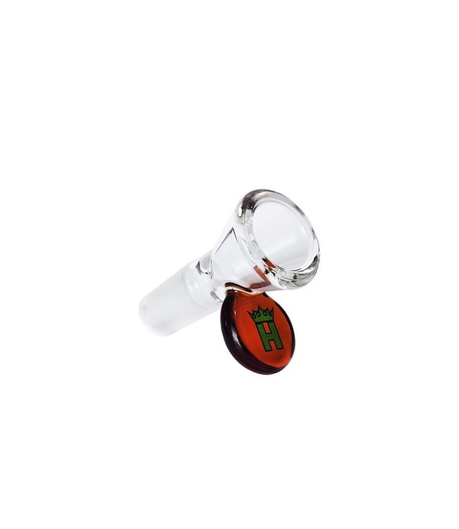 Hoss Glass Hoss Glass 19mm Cone Bowl w/Coloured Tab