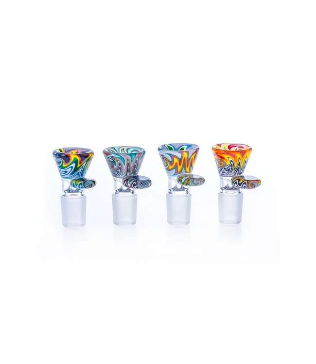 Hoss Glass Hoss Glass 14mm Colour Reversal Cone Bowl