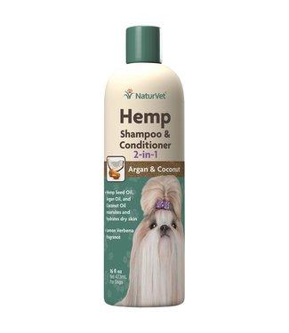 NaturVet Hemp 2-1 Shampoo & Conditioner 16oz