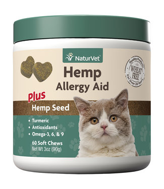 NaturVet Soft Chew Hemp Allergy Aid - Cat (90g)