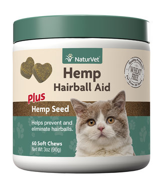 NaturVet Soft Chew Hemp Hairball Aid - Cat (90g)