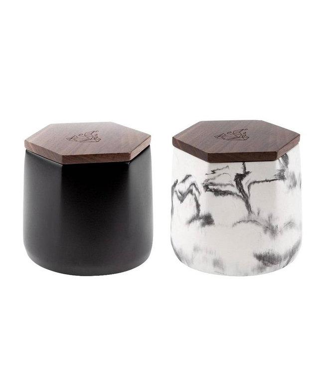 BRNT BRNT Malua Concrete Storage Jar w/ Walnut Lid