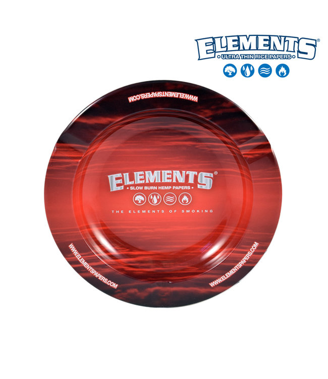 Elements Elements Metal Ashtray - Red