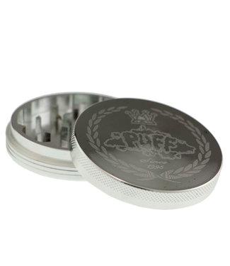 Puff Puff 62mm 2-Piece Grinder, Silver