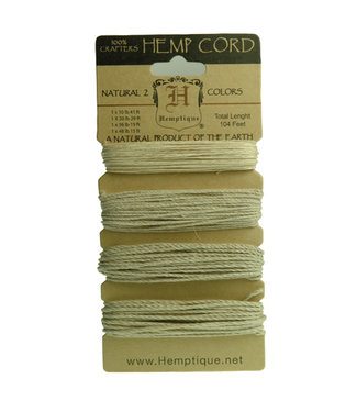 Hemptique Hemptique Natural Hemp Twine Multi-Weight Cord Set