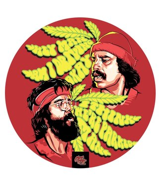 "Cheech & Chong My Dab Mat - Cheech & Chong - Tommy & Cheech, 11"" Silicone"