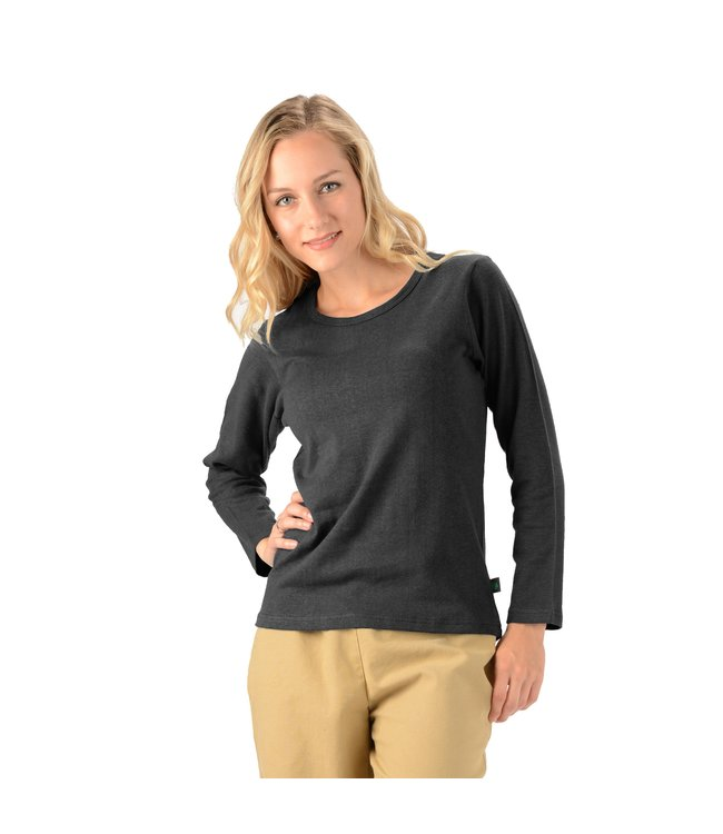 Eco-Essentials Women's Hemp L/S Scoop Neck Tee Black